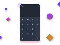 Daily UI Challenge #004 - Calculator Design