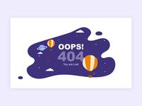 Daily UI Challenge #008 - 404 Error Page