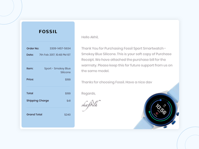 Daily UI Challenge #017 - Email Receipt daily sketch invision prototype concept website challenge ux web creative receipt email ui app dribbble design minimal clean dailyui 017 dailyui