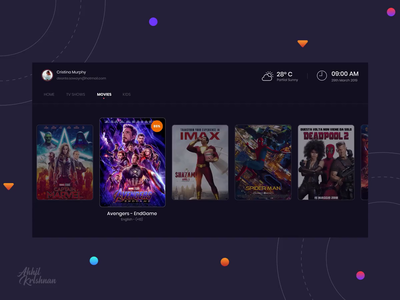 Daily UI Challenge 025 - TV App web studio concept invision animation prototype creative ui dribbble design clean minimal streaming netflix browse movie android tv app challenge dailyui