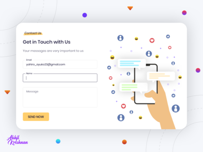 Daily UI Challenge 028 - Contact Us support form contact illustration concept website web android ios ux prototype creative app dailyui challenge ui dribbble design minimal clean