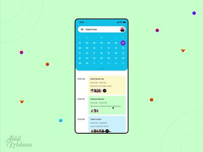 Daily UI Challenge 038 - Calendar
