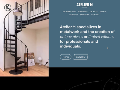Atelier.M website web design webdesign web transitions scroll parallax microinteraction interactions interaction effects animations