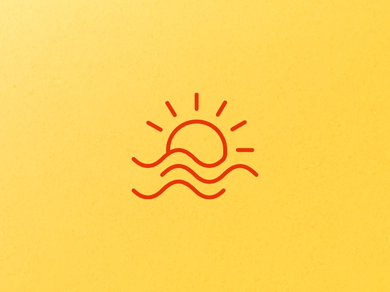 Beach icon by Flayks - Dribbble
