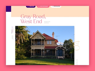 Houses Of website - WIP website typography photography house webdesign australia west end brisbane pink photo architecture