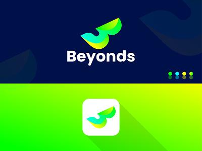 "Modern Letter ""B"" Logo Design motion graphics 3d animation ui design illustration flat logo graphic design branding"