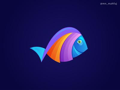 Fish Logo | Abstract Vector Logo Template Design | 3D vector logo template design gradient logo abstract logo fish icon vector design logo template vector 3d fish 3d fishing logo brand design modern logo logo logo concept creative logo