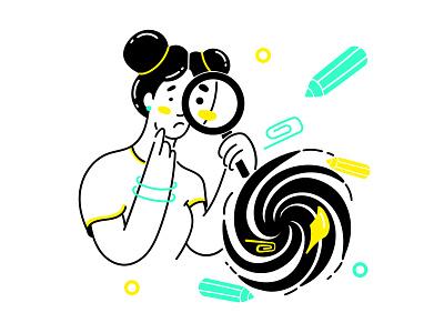 Nothing found art illustrator flat app icon minimal vector illustration