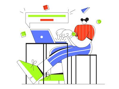 Working app design icon clean vector minimal illustrator illustration flat art