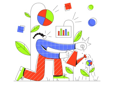 Growth web clean vector minimal illustrator illustration icon flat art app