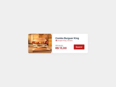 Offer Card Mobile food offer discount mobile card ui card design card