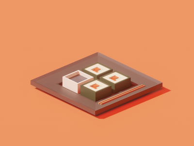 Back to the blender... course sushi 3d blender
