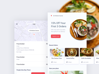 Food Order Delivery App mobile app design food preference location food delivery application clean interface user interface visual workflow app