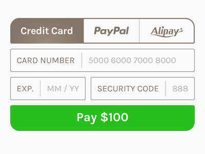 Credit Card Checkout shopping credit card button ui minimal flat payment e-commerce form checkout dailyui
