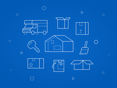 Welcome Home pattern home monochrome icon artwork house moving figma line art minimal illustration