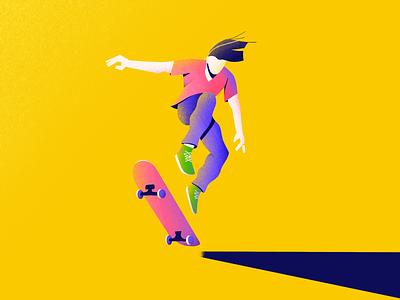 He Was a Skater Boy character skateboard dude skate procreate illustration