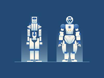 Construction Robots gradient construction robot illustration vector