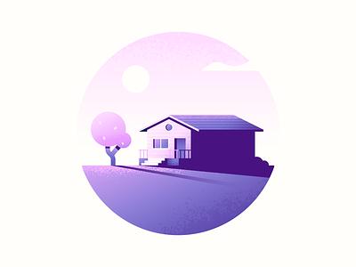 Cabin Warmup nature texture illustrator illustration cabin