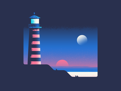 Lighthouse water nature lighthouse illustration vector