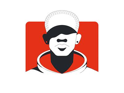 Portrait portrait illustrator vector