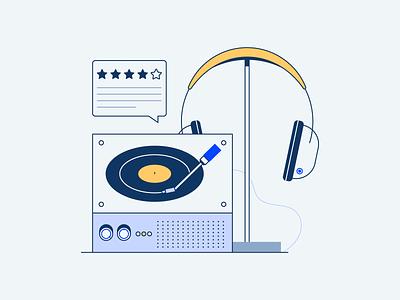 Blog illustrations podcast personal fitness music travel blog vector