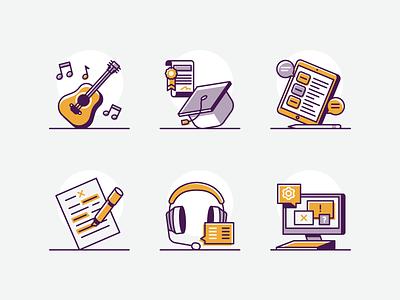 Business Ideas tech school guitar music teen business vector