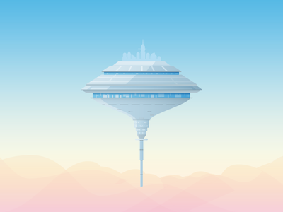 Day 43: Empire Strikes Back star wars bespin good day vector illustration