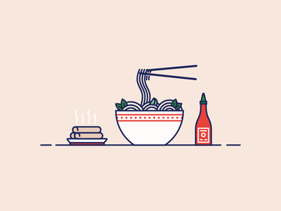 Day 91: Pho-n Day vietnamese lunch pho good day illustration vector