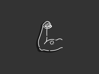 3/100: Biceps/Triceps gym icon arm biceps workout get fit vector