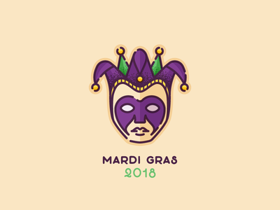 Mardi Pardi jester mask mardi gras icon illustrator illustration vector
