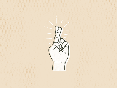Fingers Crossed fingers crossed hand vintage illustrator illustration vector