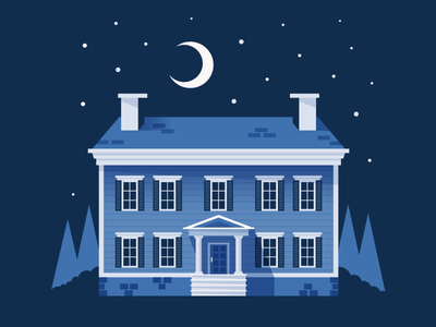 Colonial Home colonial home illustrator illustration vector