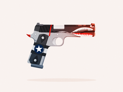 "1911 ""The Shark"" far cry ps4 gun illustrator illustration vector"