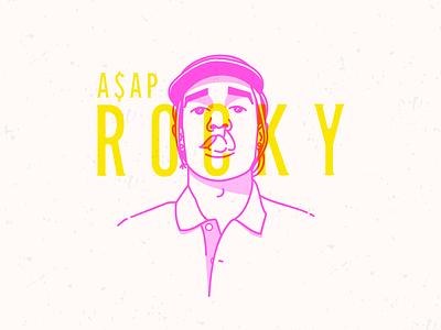 A$AP Rocky rocky portrait rap illustrator illustration vector