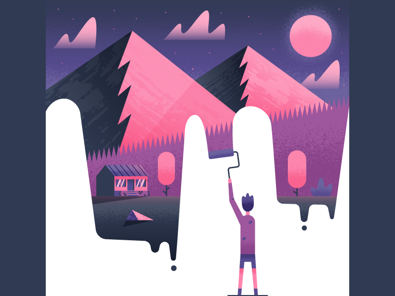 Sprinttwo paint dribbble
