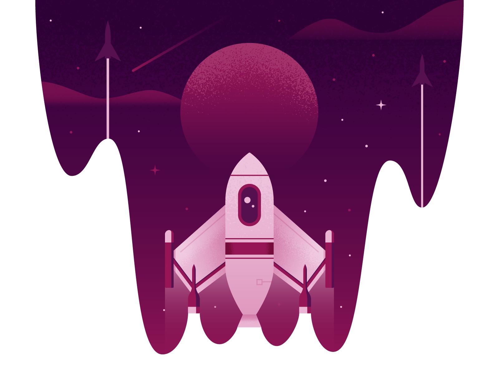 Sprintthree rocket dribbble