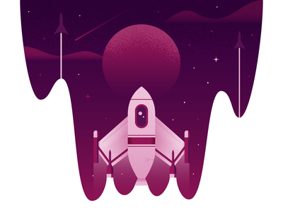 Blast Off rocket illustrator illustration vector