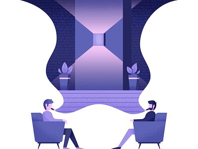 Cigar Club lounge cigar cigar club illustrator illustration vector