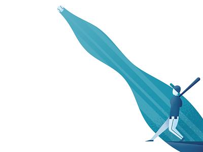Slugger slugger bat baseball illustrator illustration vector