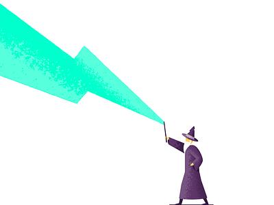 Wizard magic wizard illustrator illustration vector