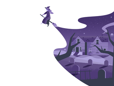 Witch haunted spooky witch illustrator illustration vector