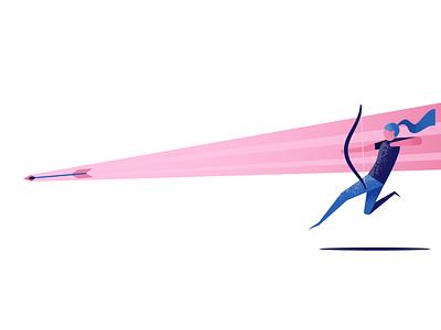 Archer arrow bow archer illustrator illustration vector