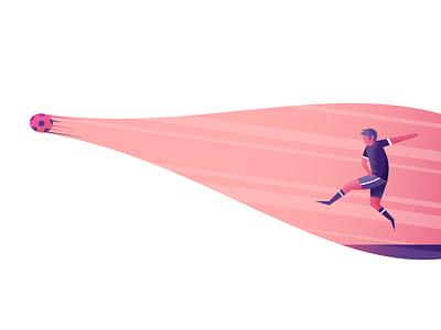 Striker futbol striker sports soccer illustrator illustration vector
