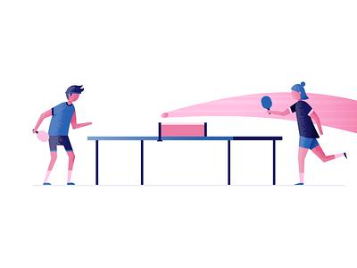 Ping Pong table tennis ping pong illustrator illustration vector