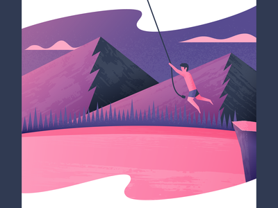 Rope Swing rope swing illustrator illustration vector