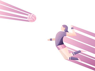 Spike It spike volleyball illustrator illustration vector