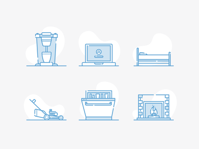 Household Items icons illustrator illustration vector