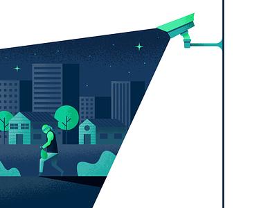 Surveillance burglar thief surveillence camera illustrator illustration vector