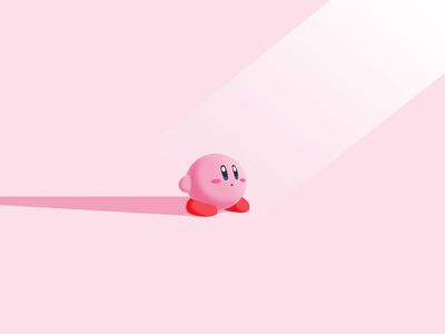 Kirby nintendo videogame game smash bros kirby illustrator illustration vector