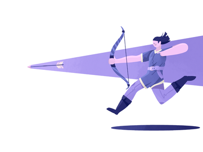 Archer Revisited arrow bow archer illustration procreate